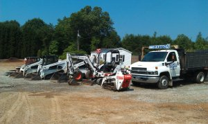 machines for landscaping installation